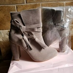 Gray Booties Size 8 Never Worn